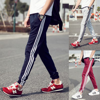 Wholesale Men Harem Pants Zippers - men's casual Sport Pants Men's Summer Trousers and male feet harem pants feet long pants beam