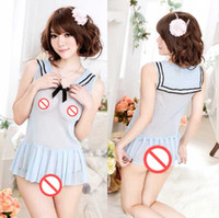 Wholesale japanese sexy clothing online - new sexy lingerie cosplay cosplay new cospaly temptation perspective skirt sexy Japanese clothes sexy student cute pajamas