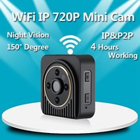 Wholesale H5 Wifi - WIFI MINI DV DVR H5 Night Vision Wearable IP Camera Wireless WIFI P2P Body Camera Support 150 degree wide angle lens sport camera