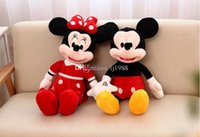 baby mickey mouse stuffed animal achat en gros de-1pc New Hot Lovely Mickey Mouse et Minnie Animal Stuffed filles jouets en peluche pour enfants jouets pour bébé (2 couleurs)