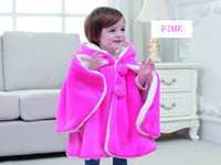 Wholesale Warm Baby Snowsuit - Fashion baby poncho winter thicken warm flannel kids shawl hooded children clothes snowsuit outerwear coats 3p