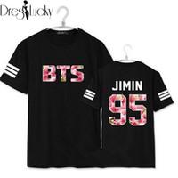 Wholesale Cherry T Shirt - Wholesale-2016 Summer New Boyfriend Style BTS T-Shirts Slim t shirt Women Tops Cherry Blossoms Letters Print Tees Couple Clothes Plus Size
