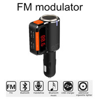 Wholesale Slot Car Sales - Wholesale-Hot Sale MP3 Player Audio Slots Dual USB LED Screen Car Kit Wireless Bluetooth FM Transmitter Car Charger Music Phone
