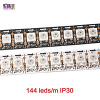 Wholesale Smart Advertisements - WS2812B Smart RGB LED Pixel Strip Black White PCB 144 leds m WS2812 IC Individually Addressable ,144leds m pixels LED Tape Ribbon DC5V
