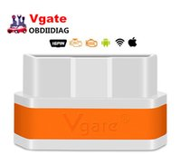 Wholesale Arabic Ipad - Original Vgate WiFi iCar 2 OBDII ELM327 iCar2 wifi vgate OBD diagnostic interface for IOS iPhone iPad Android 7colors
