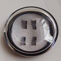 Wholesale Custom Made Hair Extensions - Magnetic Eyelashes 3D REUSABLE Dual Magnetic Eye lashes Extension Ultra Thin Fiber No Glue Custom logo