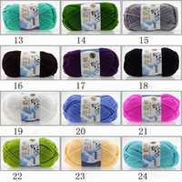 Wholesale wholesale knitting cotton yarns - Knitting Yarn Chic Soft Cotton Bamboo Crochet Knitting Baby Knit Wool Yarn New Chunky Hand Woven Colors Knitting Scores Wool Yarn
