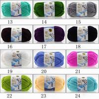 fios de lã de algodão venda por atacado-Tricô Fios Chic Algodão Macio Crochet De Bambu Tricô Bebê Malha De Lã Fios New Chunky Tecidos Mão Tricô Tricô Fios De Lã Fios