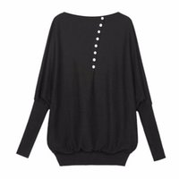 Wholesale Wholesale Oversized Jumpers - Wholesale-Fashion Women's Batwing Sleeve Oversized Cotton, Knit Sweater Loose Jumper New YH90 TQ1
