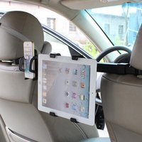 Wholesale I Phone Holders - Wholesale- 2 in 1 Tablet PC Holding Rack For I pad Phone Holder Double Used Universal Car Back Seat Headrest Mount Stand Bracket