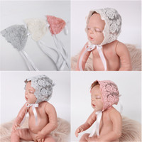 Wholesale Cheap Baby Hats For Girls - Baby Lace Caps Newborn Hats Cotton Lace Hollow Cap For 0-3M Infant Hat Cheap Factory Free Shipping 339
