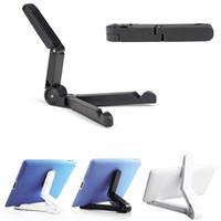 soporte para teléfono plegable al por mayor-Soporte plegable para mesa / marco de escritorio para soporte de tableta para escritorio A para iPad Mini / Air 1 2 3 4 Nuevo soporte para tableta