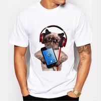 Wholesale Short Sleeve Police Shirt - 2017 new Creative Dog Police Dept Design Men T Shirt Pug Printed T-shirt Short Sleeve Casual French Bulldog Tops