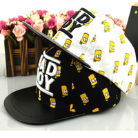"""Wholesale Minions Hats For Kids - Spring Autumn Cartoon Minions Girls Boys Baseball Caps And Hats """"Bad Boy"""" Casual Korean Children Snapback Hats For Kids 2-7Y"""