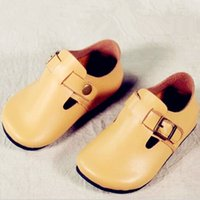 Wholesale Child Leather Shoes - Children's Fashion Leather Shoes Boy's Real leather preschool Shoe Child Newest brand shoes Kids Spring moccasins DHL free shipping CK241