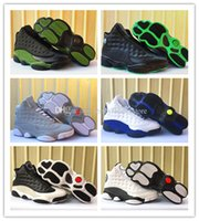 Wholesale High School Tassels - 2017 new retro 13 XIII Sport Blue Men's Basketball Shoes high quality 13s black green grade school Athletic mens sports sneakers Eur 36-47