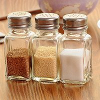 Wholesale Glass Herb Spice Tool Seasoning Cans Pepper Bottle Powder Container Spice Jar Bottle Storage Seasoning Spice Dispenser Container