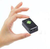 alarma de grabación de voz al por mayor-GF08 Mini GPS Tracker Car GSM GPRS Localizador de GPS con Mini cámara GSM Alarm Video Grabación de voz DVR