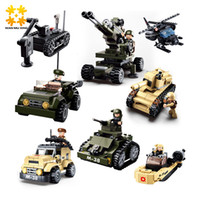 Wholesale Military Toys Tanks - kids army toys WMX DIY eductional 8 in 1 Building Blocks Sets Military Army Tank children Kids Toys compatible with major brand