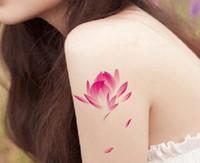 Wholesale Fresh Lotus Wholesale - Wholesale- (Min order $0.5) waterproof temporary tattoo tatoo henna fake flash tattoo stickers Taty tatto Fresh lotus SYA052