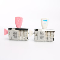 Wholesale Wholesale Date Stamps - Wholesale- Diy Roller Knob Seal Text Date Ink Rubber Stamp Diary Photo Album Decoration
