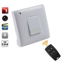 Mur De Voix Espion Pas Cher-HD 720P Hidden Spy Camera Wall Power Switch DVR Home Security Cam Détection de mouvement Vidéo Enregistreur vocal Caméscope de sécurité