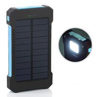 Wholesale Usb Charger For Powerbank - Shock drop resistance Waterproof Solar Power Bank 10000mah Dual USB Bateria Externa Portable Solar Charger Powerbank for phone