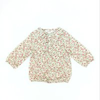 Wholesale Country Kids Clothing - Kids Clothes Girls Flower Long Sleeve Shirt Cotton Country Style Brand Spring Fall Children Girl Clothing