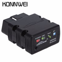 Wholesale Benz Connection - New Konnwei KW902 Mini ELM327 Bluetooth KW902 OBD-II Car Auto Diagnostic Scan Tools Automotive Car Scan Tool Wireless Connection