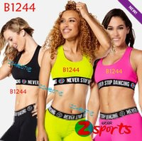 Wholesale Dance Clothes Woman Fitness - ALL-ROUND FITNESS clothes Paradise - Dance Halter fitness yoga Top T1244