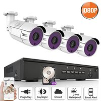 Wholesale Udp Dns - ANRAN P2P Plug and Play 1080P HD H.264 4CH POE NVR 36 IR Day Night Outdoor Waterproof FTP Email Alarm Security POE IP Camera CCTV System