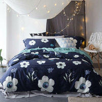 Wholesale King Size Bedding Collections - Luxury Egyptian Bedding Sets Flower Collection Duvet Cover Solid Bed Sheets Pillowcases Queen King Size 4PCS 2017 New Arrival