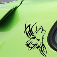 Barato Adesivos De Vinil Lobo-Atacado 10pcs / lot 8.9 * 15CM Tattoo Wolf Car Motorcycle Body Animal Etiquetas Vinyl Car Styling Waterproof Decal Accessories