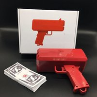 Wholesale Brand New Supremee Cash Cannon Money Gun Novelty Fashion Toy Make It Rain Money Gun Red Christmas Gift Toys