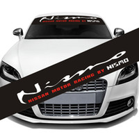 Wholesale Reflective NISMO Front Rear Windshield Banner Decal Vinyl Car Stickers Auto Window Exterior DIY Decorations