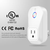 Wholesale Remote Control Power Eu - Alexa Articifical Intelligence products smart remote control wifi plug sockets MAX power 2000W US UK EU Plug repeater plugs