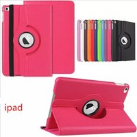 Wholesale Ipad2 Leather Cases - 360 Degree Rotating Swivel Stand Magnetic PU Leather Smart Protective Solid Color Case Cover for iPad Pro IPAD2 3 4 IPAD Air 2 MINI1 2 3 MIN