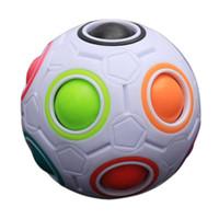 verkaufsblock großhandel-Heiß! Kreative Kinder Kid Sphärische Regenbogen Ball Fußball Magie Spielzeug Bunte Lernen Bildung Puzzle Block Spielzeug Neue Verkauf