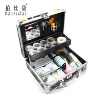 Wholesale Eyelash Extension Kit Case - Wholesale- Baisidai Professional False Eye Lash Eyelash Extension Full Kit Tools Glue Set With Case