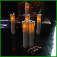 umweltfreundliche batterien großhandel-Eco-Friendly Plastic LED Licht Kerze Lampe 10,5 cm Tall Church Kerzen mit Batterie Weiß Groß Stick Kerze Notfall