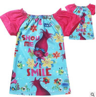 Wholesale Top Baby Girls Christmas Gifts - Trolls Baby T Shirts Children Girls Shorts Sleeve T Shirts Kids Girls Tops Tees Shirts Cotton Girl's Garments Christmas Gifts