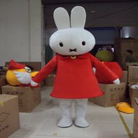 Wholesale Miffy Rabbit Costume - Miffy Rabbit Mascot Costume Fancy Party Dress Halloween Carnival Costumes Adult Size High Quality free shipping