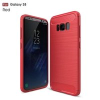 Wholesale Shipping Silicone Case - Carbon Fiber Case for Galaxy S8 Armor Case Shockproof Slim Soft TPU Phone Case for Samsung S8 G950 Cover With Free Ship