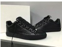 Wholesale Top Brands Trainers - Wholesale-Top Brand Causal Shoes Arena Sneakers Shoes Flats Fashion Genuine Leather Walking Shoes,Outdoors Trainers Dress Party Shoes 38-46