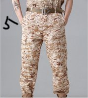 Wholesale Wholesale Combat Trousers - 2017 Worker Camo Pants Genuine MENS CASUAL MILITARY ARMY Trousers CARGO Tactical COMBAT Camouflage PANTS TROUSERS 7 COLORS SIZE XS-SL
