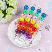 Wholesale Hot Sale Colors Crayons Painting Pens Cartoon Smiley Graffiti Pen Stationery Gifts For Kids Drop Shipping