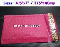 Wholesale Padded Spaces - Wholesale- Pink 4.5X7inch   115X180MM Usable space Poly bubble Mailer envelopes padded Mailing Bag Self Sealing [100pcs]