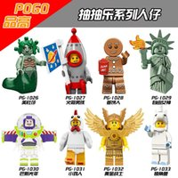 Wholesale Gingerbread Man Wholesale - 2017 8PCS Inhumans Royal Family Gingerbread Man Medusa Rocket Boy Chicken Suit Unicorn Girl Building Blocks Best Children Gift Toys PG8061
