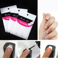 Wholesale Browning Nail Stickers - Wholesale-3 Pack Striping Line French Manicure Form Nail Art Tape Sticker DIY Stencil Hot