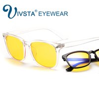 Wholesale character pins - IVSTA 8082 2017 Anti Blue Rays Computer Glasses Women Vintage Eyewear Baroque Style Alloy Pin CR39 Resin Amber Lense UV400